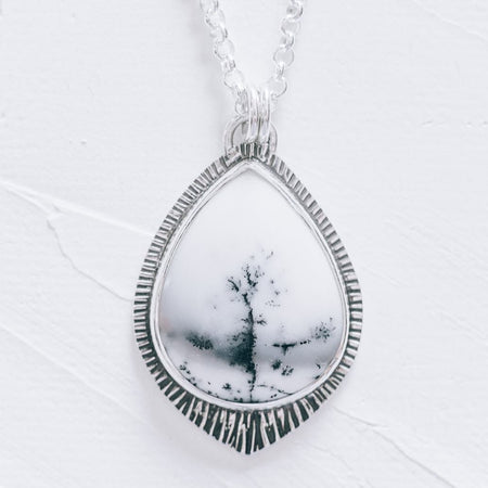 Winter Branches II - Tourmalinated Quartz and Silver Pendant