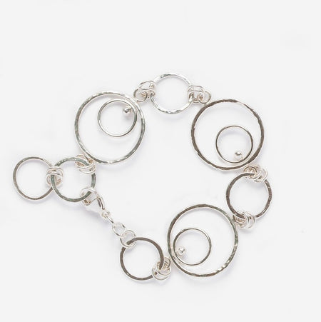 Signature Silver Orbital Hoop Earrings