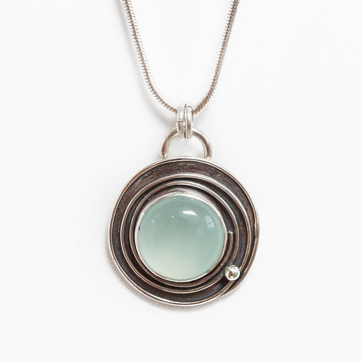 Spiral necklace spiral pendant aqua chalcedony necklace rebel orbital aqua chalcedony spiral necklace aloadofball Image collections