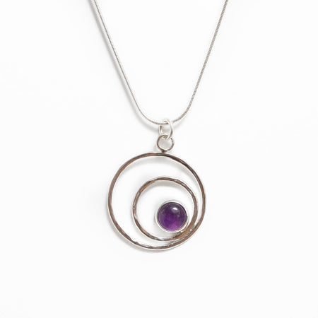 Selene Moon Goddess Pendant in Moonstone
