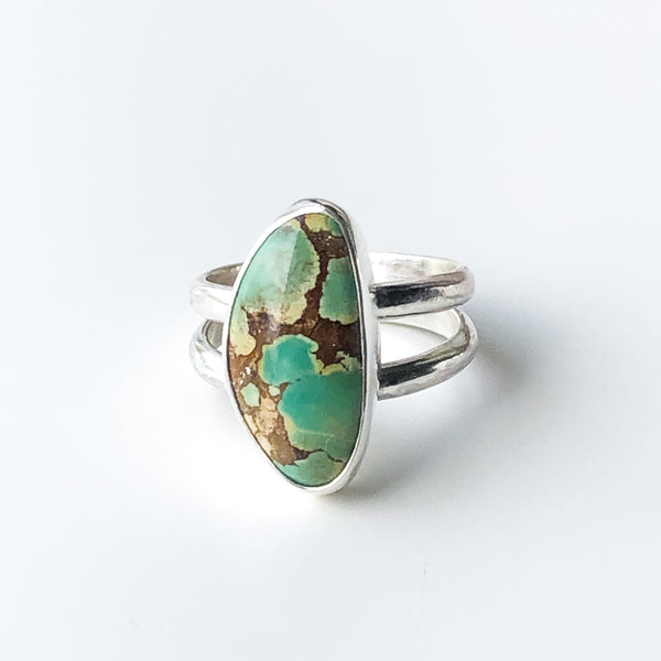 One of a Kind Treasure Mountain Turquoise Ring, Size 7