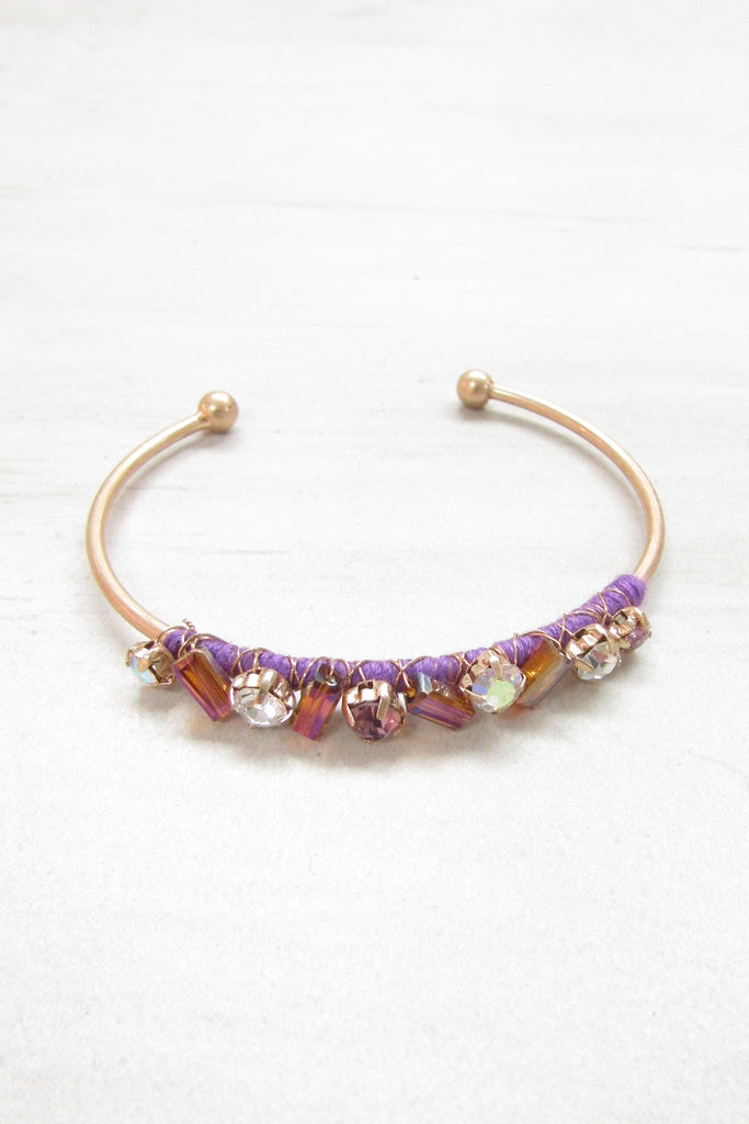 Cuff braclet - Purple color