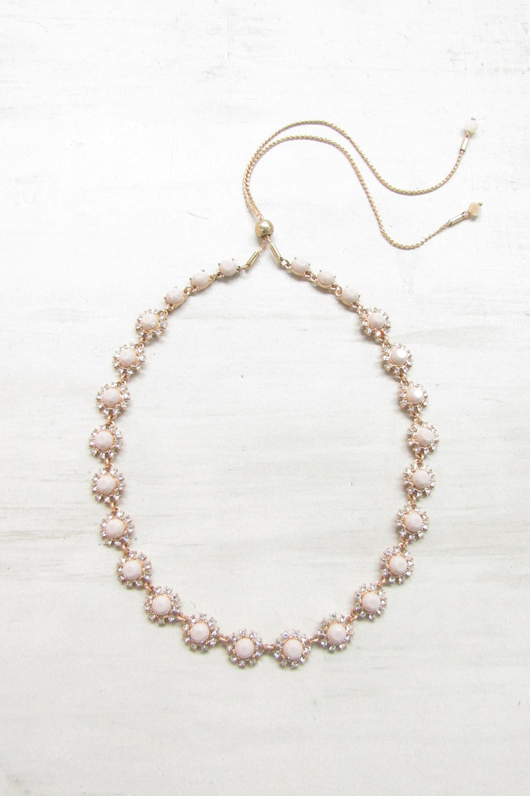 Adjustable necklace - Champagne color