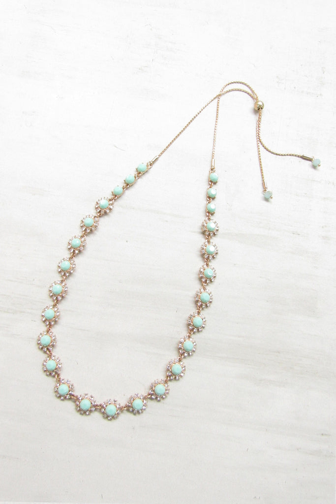 Adjustable necklace - Mint color