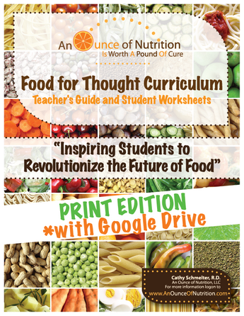 SINGLE USER - Food For Thought Curriculum - PRINT EDITION **PLUS GOOGLE DRIVE