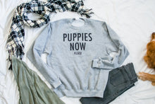 Puppies Now Please Crew Neck