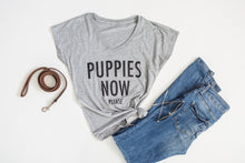 Puppies Now Please V-Neck