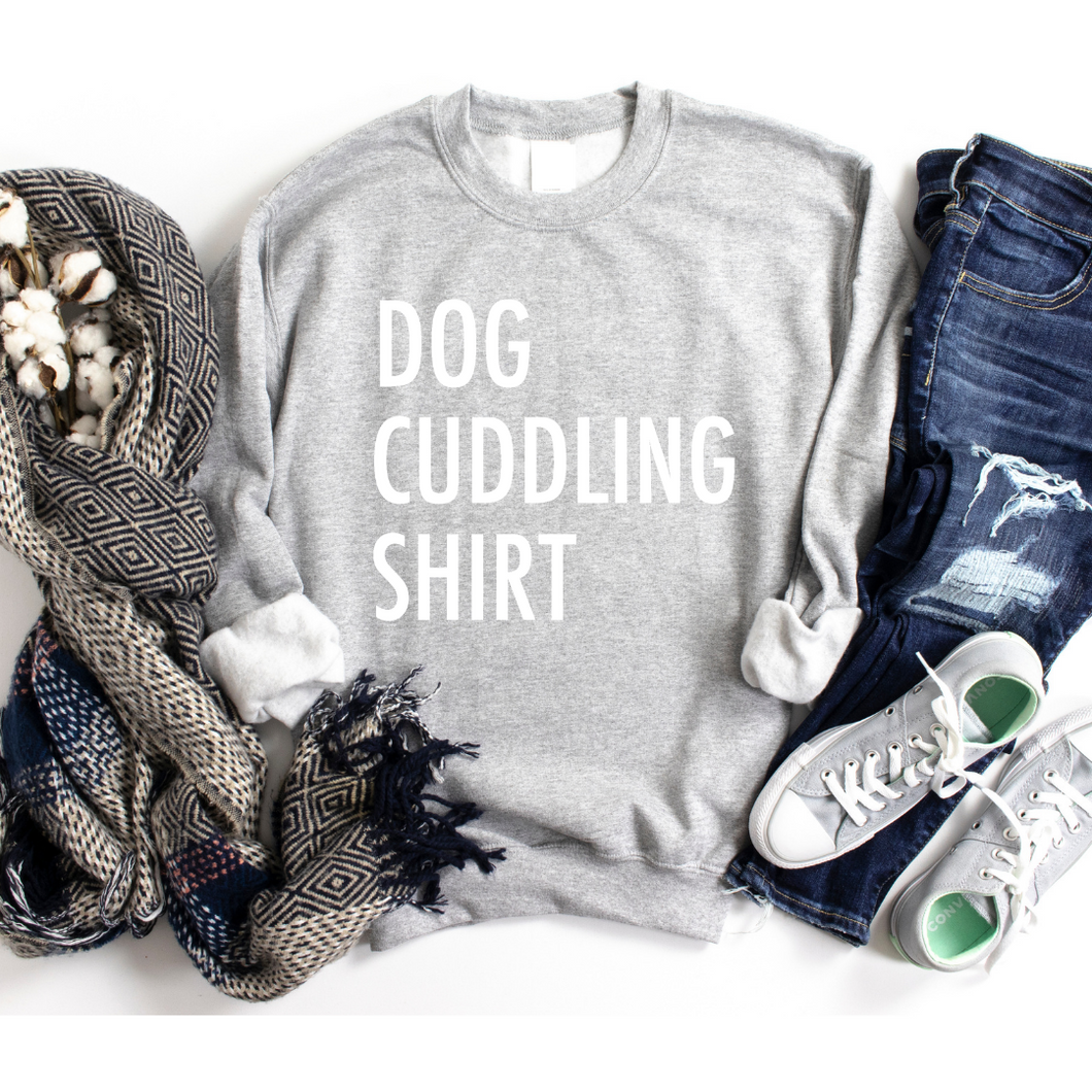 Dog Cuddling Sweatshirt (Customizable)