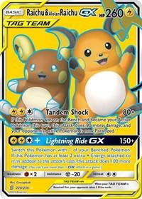Raichu & Alolan Raichu GX (Full Art) (220/236) [SM - Unified Minds]