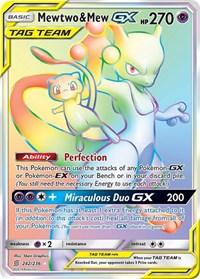 Mewtwo & Mew GX (Secret) (242/236) [SM - Unified Minds]