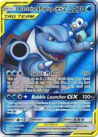 Blastoise & Piplup GX (Full Art) (214/236) [SM - Cosmic Eclipse]