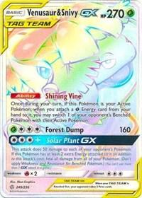 Venusaur & Snivy GX (Secret) (249/236) [SM - Cosmic Eclipse]