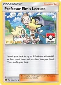 Professor Elm's Lecture - 188a/214 (League Promo) [1st Place] (188a/214) [League & Championship Cards]