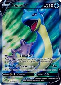 Lapras V (Full Art) (189/202) [SWSH01: Sword & Shield Base Set]
