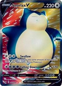 Snorlax V (Full Art) (197/202) [SWSH01: Sword & Shield Base Set]