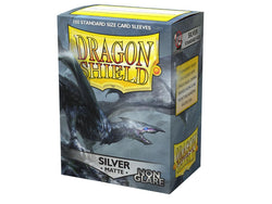 Dragon Shield Sleeves: (100) Silver Non-Glare Matte