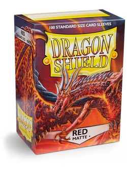 Dragonshield Sleeves 100ct Standard - Red Matte