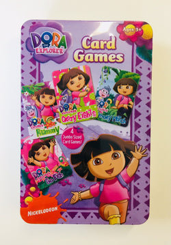 Dora the Explorer Card Games Tin