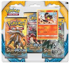 Sun and Moon 3-Pack Blister - Litten