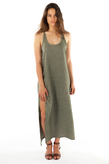 Santorini Maxi Dress- Sea Grass Green