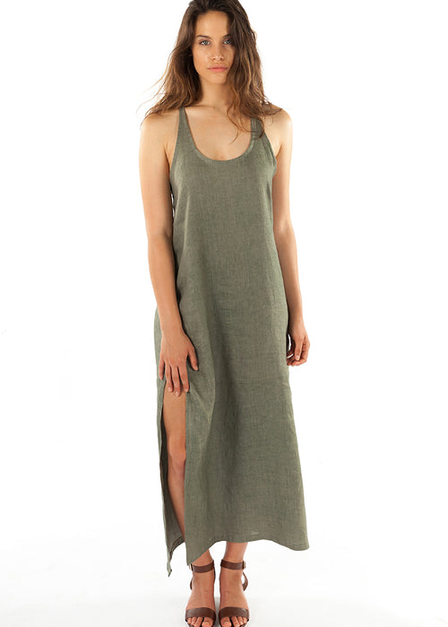 Santorini Maxi Dress- Sea Grass
