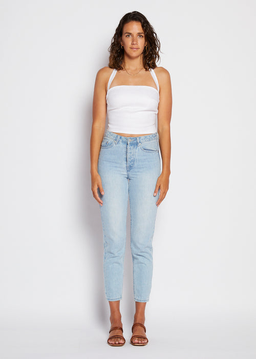 Naomi Crop Top- White