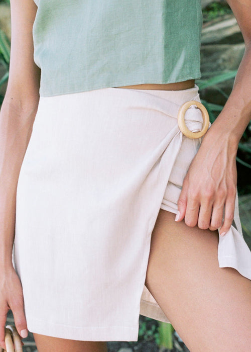 Vacanza Wrap Mini Skirt