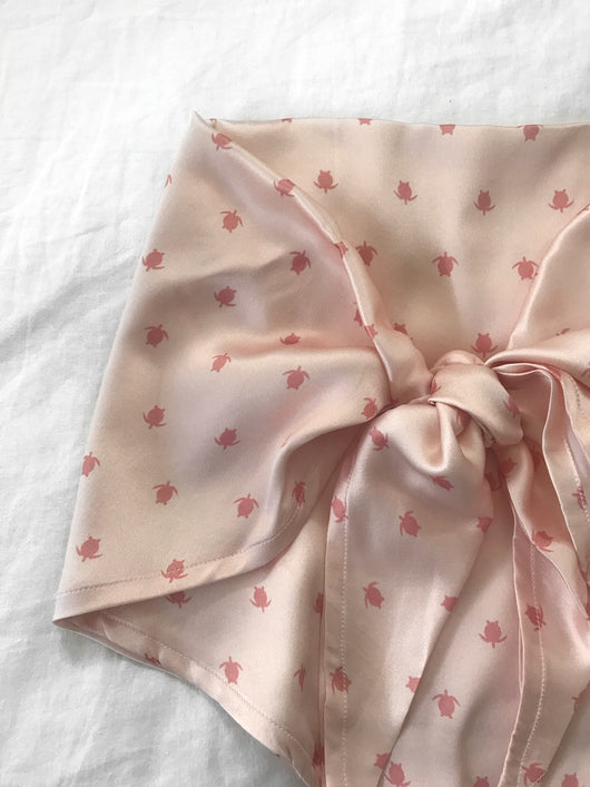 Silk Handkerchief Top - Pink