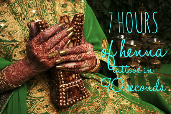 The Art of Henna (7 Hours Of Henna Tattoos In 90 Seconds)