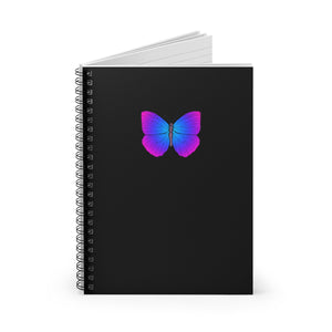 Aesthetic Butterfly Spiral Notebook - Ruled Line
