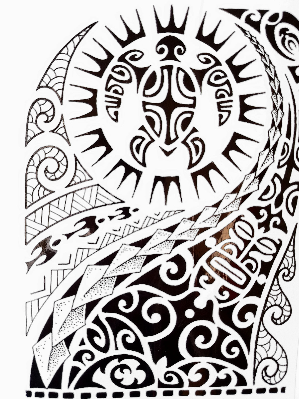 Tribal/Maui Black Temporary Tattoo