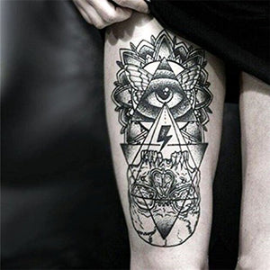 Eye Totem Temporary Tattoo [Black]
