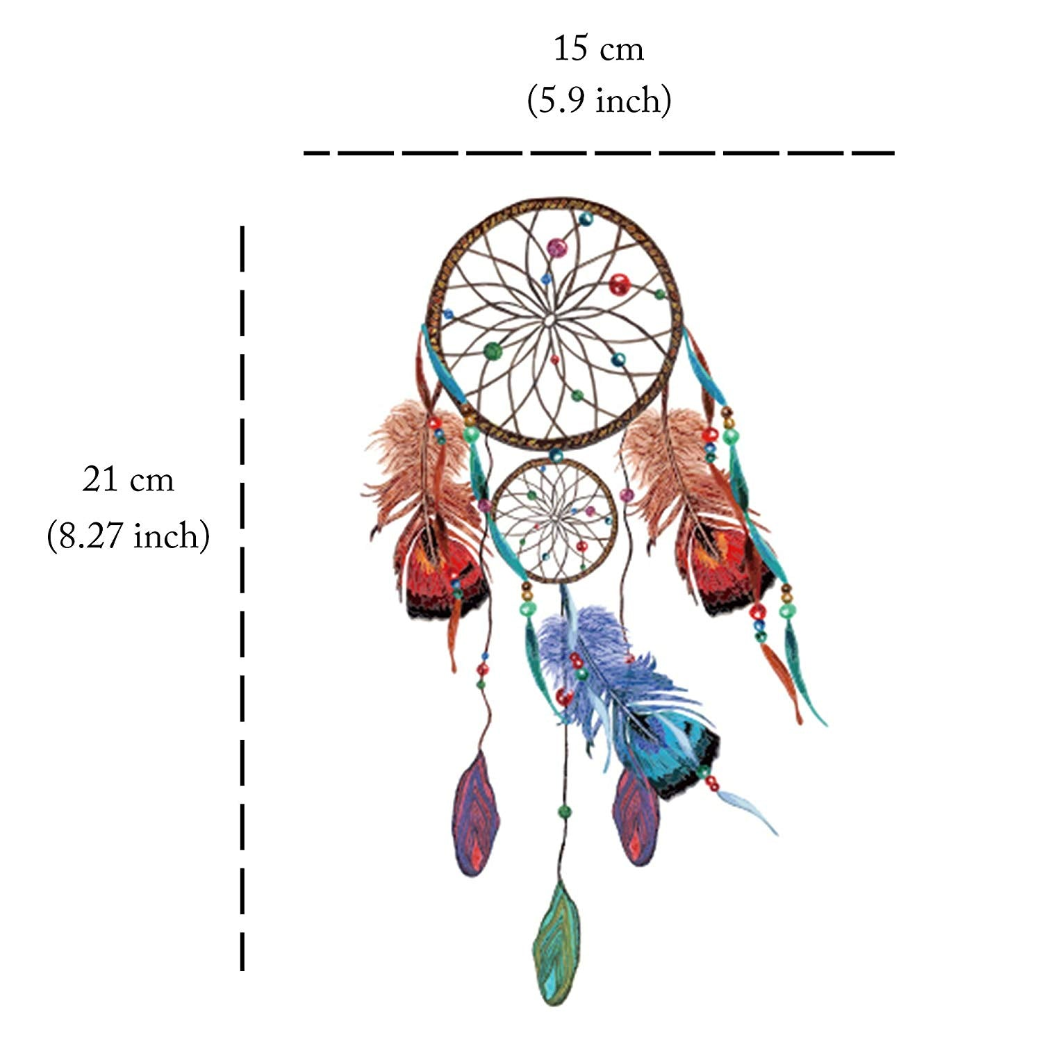 Dreamcatcher Temporary Tattoo (Set of 3) Feathers