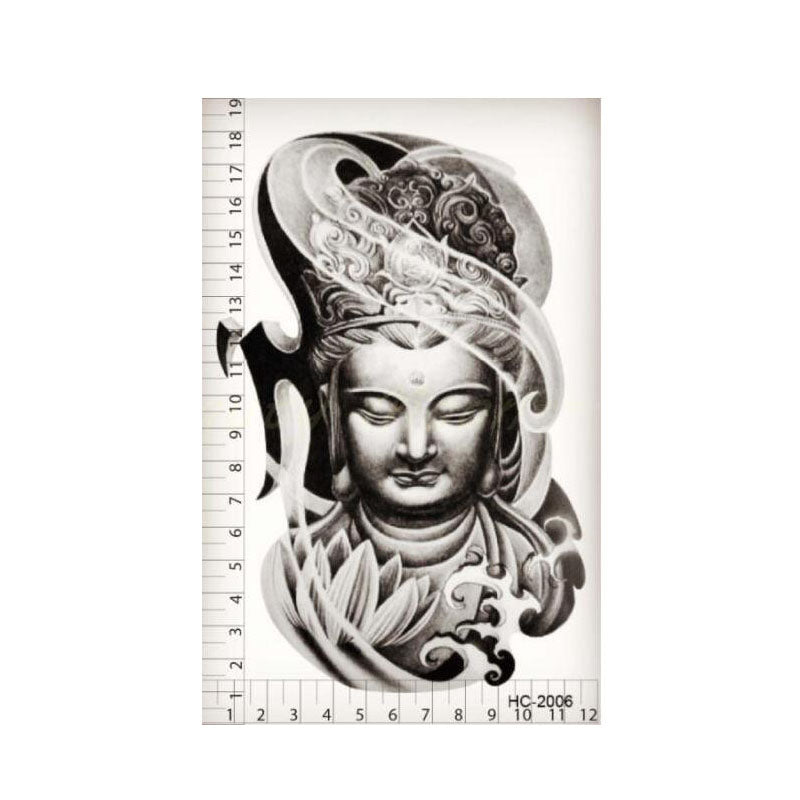 Lotus Buddha Temporary Tattoo