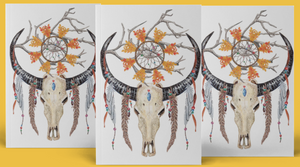 Dream catcher tattoo (Set of 3) Skull