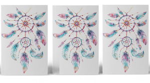 Dream catcher tattoo (Set of 3) Pastel