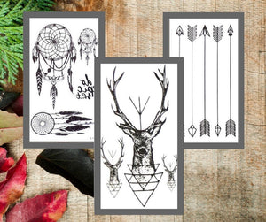 Dream Deer Temporary Tattoo Set