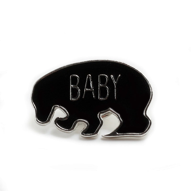 Skull Hand Palm Dog Shark Pin Enamel