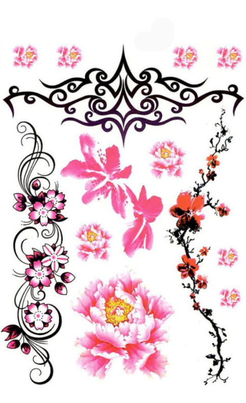 Tribal Flower Temporary Tattoo