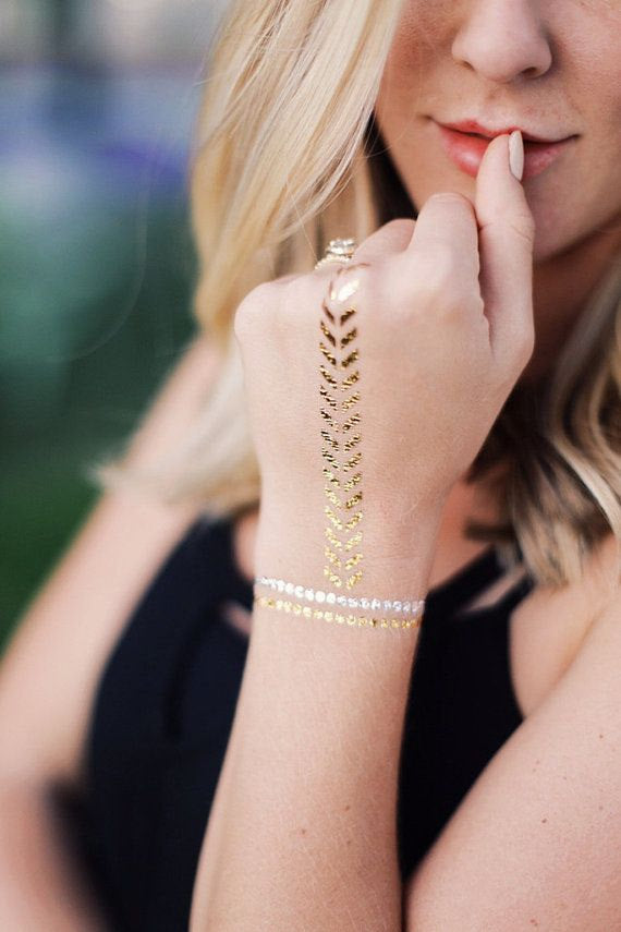 Gold Temporary Tattoo Bracelets