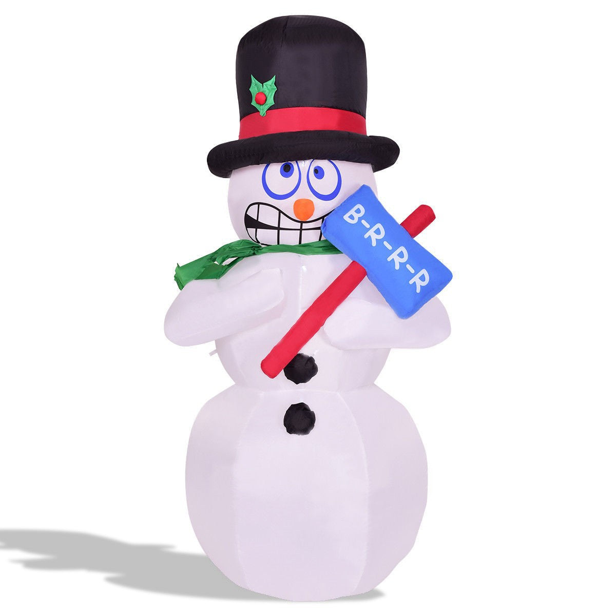 Shivering Christmas Snowman for Indoor/Outdoor 6'
