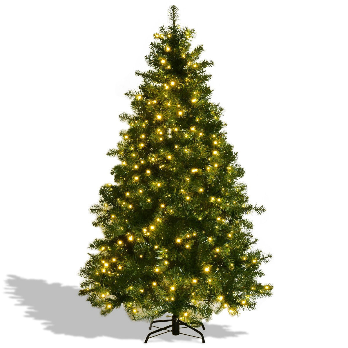 Christmas Tree w/ LED Lights & Stand 6' / 7' / 8' Artificial PVC