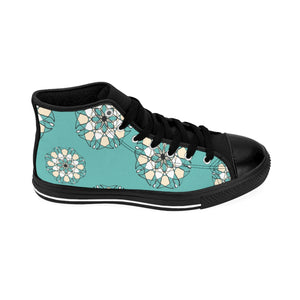 Geometric Madala High-top Sneakers Mint