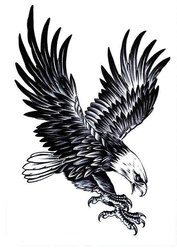 Eagle Temporary Tattoo [Half Sleeve]