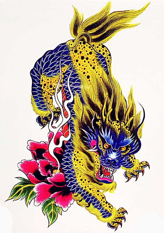 Large Dragon Temporary Tattoo