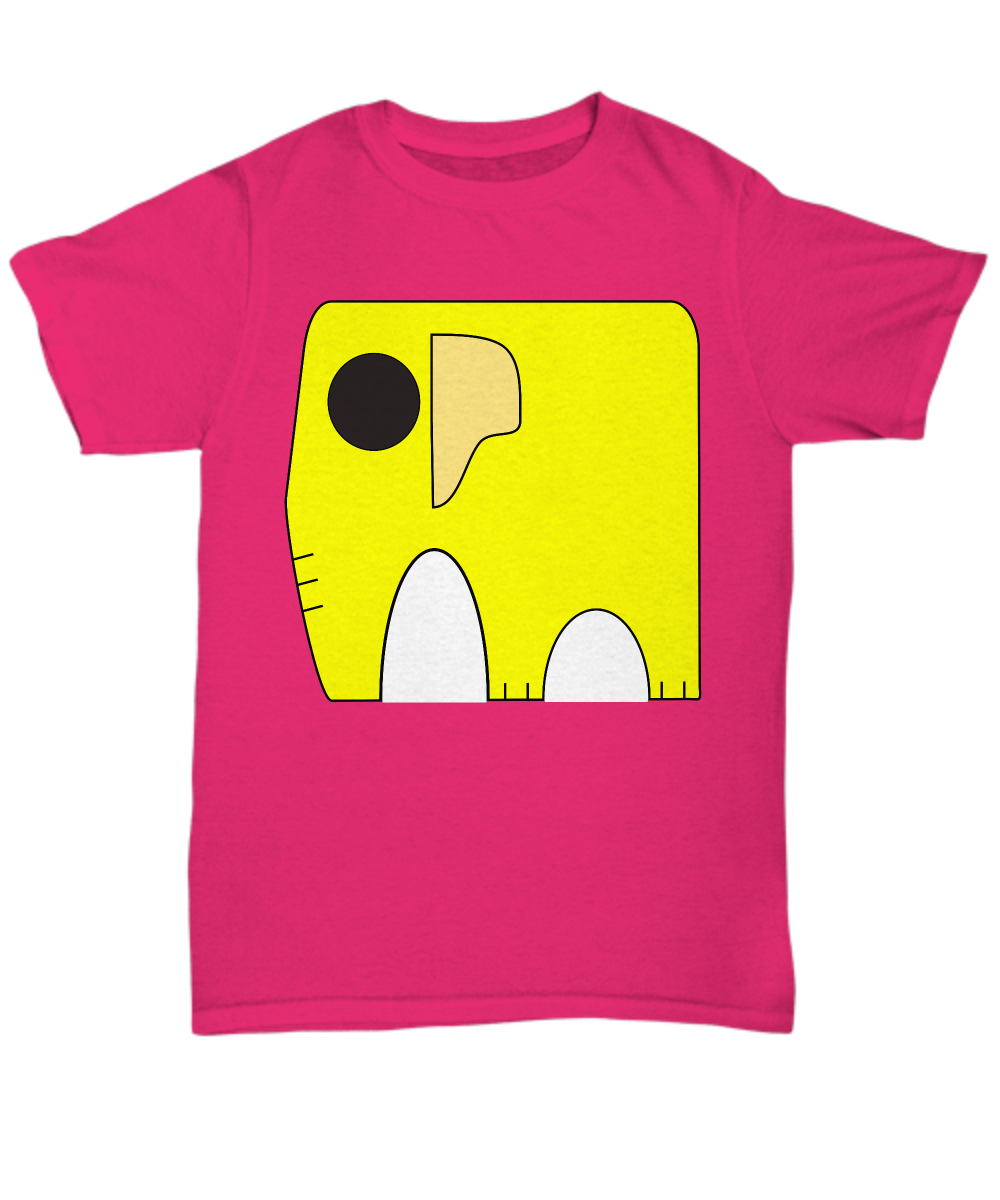 Very Yellow Elephant Unisex T-shirt - Polera Elefante Amarillo