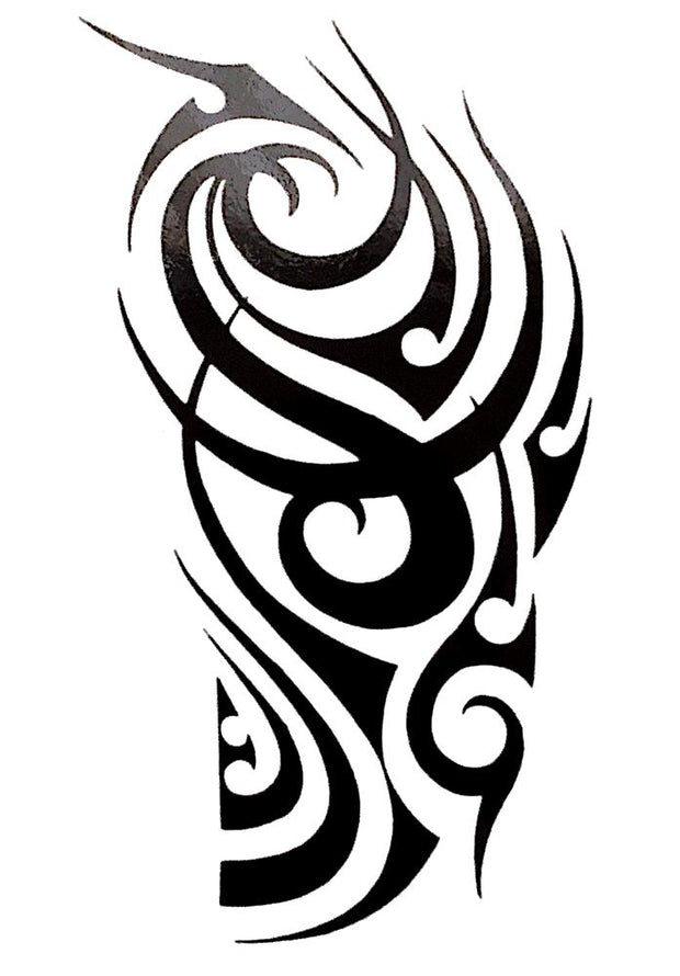 Large Tribal  Black Temporary Tattoo