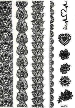 Temporary Tattoo Henna inspired - Indian designs