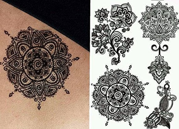 Mandala Tattoo - Flower Tattoo Mehendi / Henna inspired
