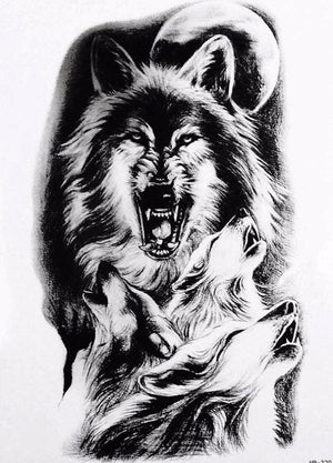 Wild Wolf Temporary Tattoo